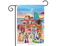 Dog Days of Summer Garden Flag-BLG00439