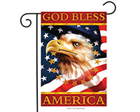 God Bless America Garden Flag-BLG00443