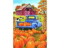 Pumpkin Patch Pickup Garden Flag-BLG00482