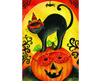 Black Cat Garden Flag-BLG00489
