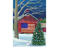 Barnside Winter Garden Flag-BLG00522