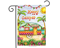 Tropical Camper Garden Flag-BLG00594