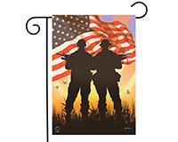 American Heroes Garden Flag-BLG00600