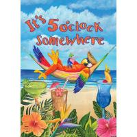 5 O'Clock Parrot Garden Flag-BLG00603