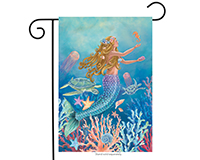 Mermaid Garden Flag-BLG00604
