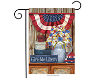Give Me Liberty Garden Flag-BLG00607