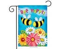 Bee Happy Bees Garden Flag-BLG00632