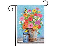 Zinnias Garden Flag-BLG00640