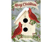 Christmas Cardinal Bird House Garden Flag-BLG00702