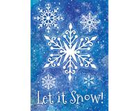 Snowflakes Garden Flag-BLG00722