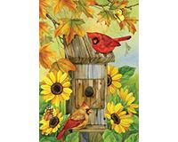 Cardinals and Sunflowers Garden Flag-BLG00733