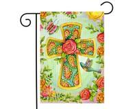 Joyful Cross Garden Flag-BLG00768