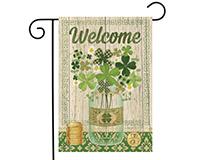 Lucky Clovers Garden Flag-BLG00770