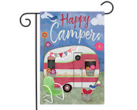 Camping Weather Garden Flag-BLG00772