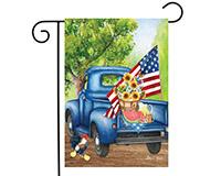 Old Days Garden Flag-BLG00774