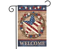 Americana Barnstar Garden Flag-BLG00777