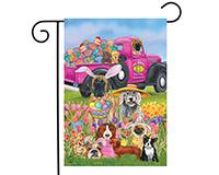 Easter Dogs Garden Flag-BLG00782