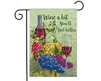Wine A Bit Garden Flag-BLG00792