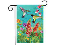 Hummingbird Greeting Garden Flag-BLG00809
