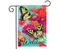 Morning Butterflies Garden Flag-BLG00812