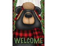 Woodsy Bear Welcome Garden Flag-BLG00905