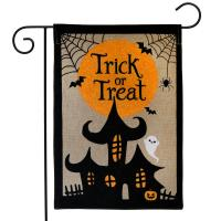Trick or Treat Burlap Garden Flag-BLG00987