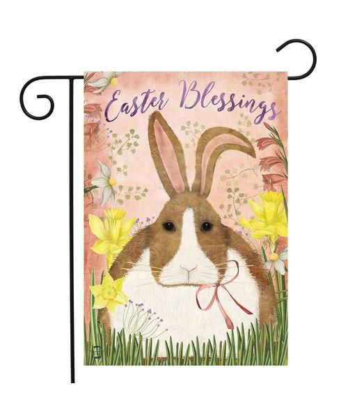Easter Blessings Bunny Garden Flag