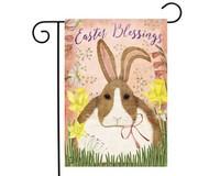 Easter Blessings Bunny Garden Flag-BLG01184