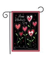 Valentines Flowers Garden Flag-BLG01194