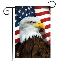 American Eagle Garden Flag-BLG01328