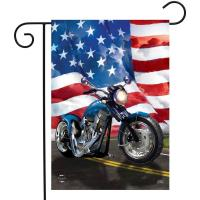 American Motorcycle Garden Flag-BLG01391