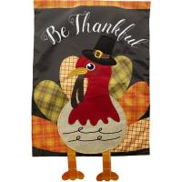 Colorful Turkey Applique Garden Flag-BLG01471