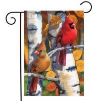 Birch Tree Cardinals Garden Flag-BLG01637