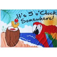 It's 5 O'Clock Somewhere Grommet Flag-BLGR00004