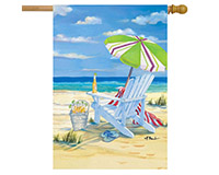 5 O'clock Beach House Flag-BLH00165