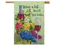 Wine A Bit House Flag-BLH00792