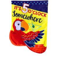 5 O'Clock Applique House Flag-BLH00855