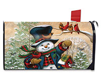 Winter Friends Mailbox Cover-BLM00089