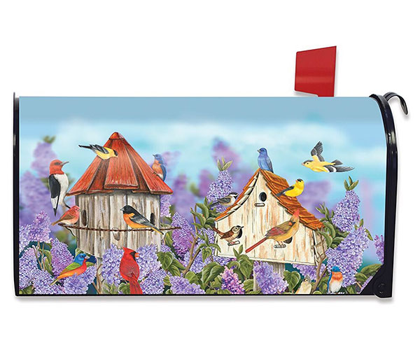 Birds and Lilacs Mailbox Cover