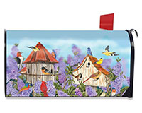 Birds and Lilacs Mailbox Cover-BLM00343