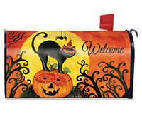 Black Cat Mailbox Cover-BLM00489