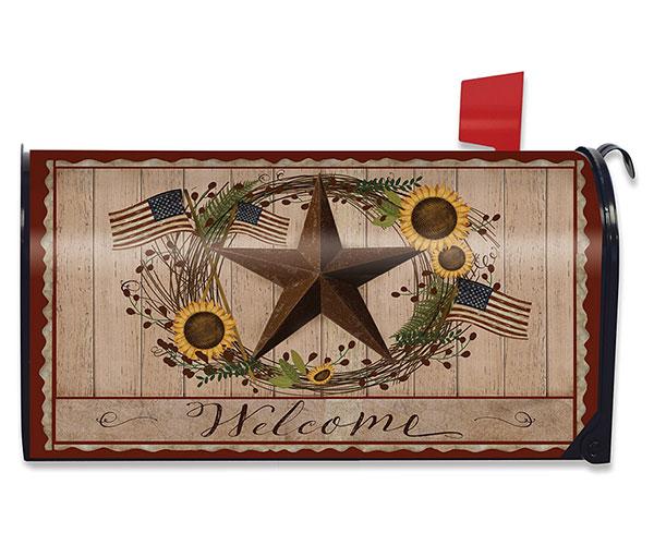 Autumn Welcome Barnstar Mailbox Cover