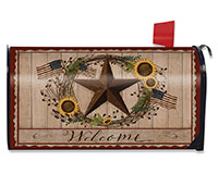 Autumn Welcome Barnstar Mailbox Cover-BLM00498