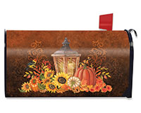 Fall Lantern Mailbox Cover-BLM00503
