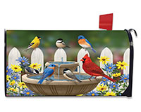 Bird Bath Gathering Mailbox Cover-BLM00591