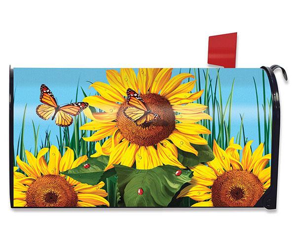 Sunflower Field Mailbox Cover