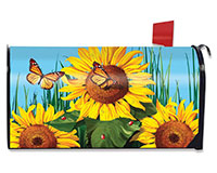 Sunflower Field Mailbox Cover-BLM00598