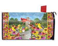 Spring Gathering Mailbox Cover-BLM00602
