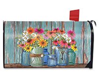 Farm Fresh Flowers Mailbox Cover-BLM00639