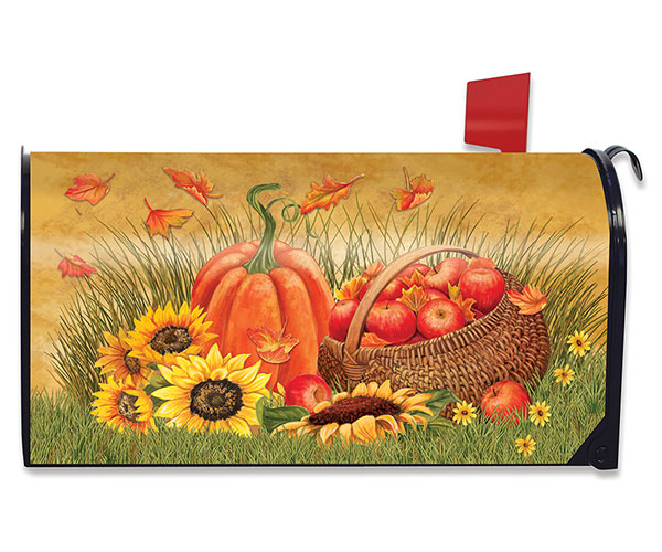 Pumpkin and Apples Mailbox Cover